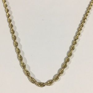 """Jewelry - 14k Yellow Gold Rope Chain Necklace 18"""" 3mm"""